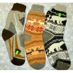 Носки шерстяные с рисунком