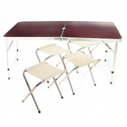 Стол складной + 4 табуретки 68х120х60