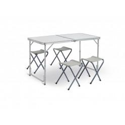 Стол складной + 4 табуретки 61х120х60