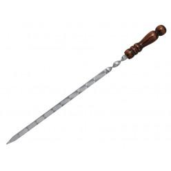 Шампур с деревяной ручкой 55см