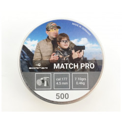 Пули пневматические Borner Match Pro кал.4,5 500шт 0,46гр