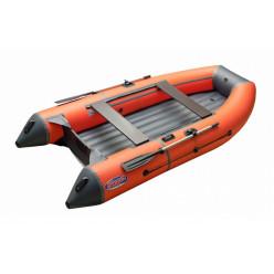 Моторная лодка ПВХ Zefir 3300 LT оранжевый с темно-серым