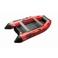 Моторная лодка ПВХ Zefir 3300 LT красный  с черным