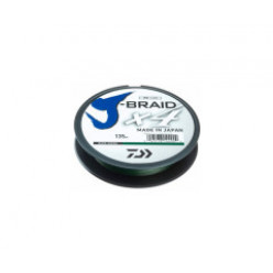 Плетеный шнур J-BRAID*4E 135м 0.20мм Dark green