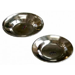 Тарелка 22см нержавеющая сталь