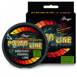 Плетеный шнур Stinger Power Line 125м Fr.Green 0.13мм