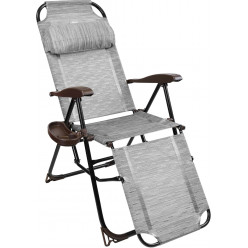 Кресло-шезлонг с полкой  КШ3/4 бамбук
