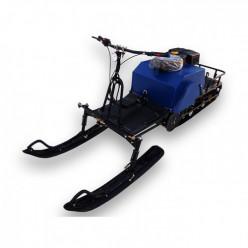 Мотобуксировщик ЛИДЕР-2-3Т-15АП адаптивная подвеска 15л.с. 3 тележки с лыж.модулем