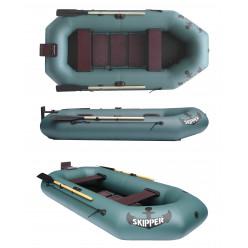 Лодка ПВХ гребная надувная SKIPER S260T с навес. транцем