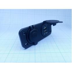 Панель c USB-разъемом и прикурив. AES121438PU