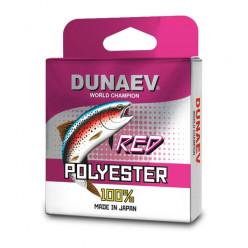 Леска Dunaev Polyester RED 0.185мм 100м