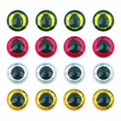 Глазки 3D Silver 3мм 10шт