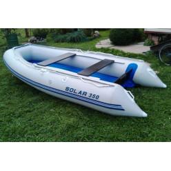 Лодка надувная транц Солар Максима-350 светло-серый
