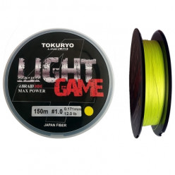 Шнур Tokuryo Light Game X4 Yellow 1.0 PE 150m