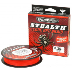 шнур Spiderwire Stealth 0,35мм 110м крас.