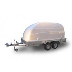 Автоприцеп ЛАВ 81013 3,5х1,5м. двухосный с пластиковой крышкой