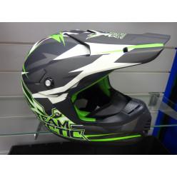 Шлем снегоход.АС5232-398Снокросс Флэт зел.М