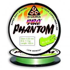 Леска Asama ProFire Phantom HiViz 0,18 100m