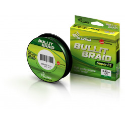 "Плетёный шнур ALLVEGA ""Bullit Braid""135м.,флуо-жёлт.,0,28мм(21.3кг)"