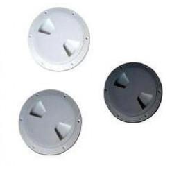 Люк смотровой пластиковый серый диаметр 15см 710136