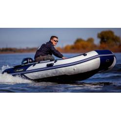Лодка моторная Gladiator E 350 LT цвет бело-темно синий
