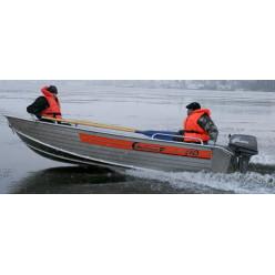 Лодка алюминиевая Wellboat В-42 румпельное управление