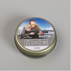 Пули пневматические Borner Match 4.5кал.250шт 0,58гр