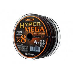 Шнур Daiwa UVF Hyper Mega Sensor 8x#4.0 d-0.330 мм 59 lb 100 m 9677
