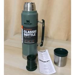 Термос STANLEY Classic 1L 10-08266-001 темно-зеленый