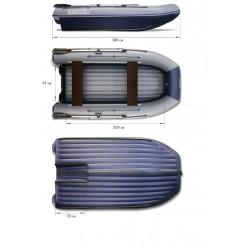 Надувная мотор.лодка ФЛАГМАН-DK 380 JET тунель зеленая