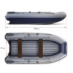 Надувная моторная лодка ФЛАГМАН-DK 320 серо-синяя