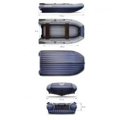 Надувная моторная лодка ФЛАГМАН-DK 350 серо-синяя