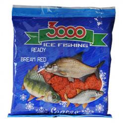 Прикормка зимняя готовая Sensas 3000 BREAM RED 0,5