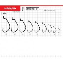 Крючки Maruto 3314 BN №1/0  (5шт)