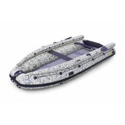 Лодка надувная моторная SOLAR-430 Super Jet tunnel  с фальшботом Пиксель