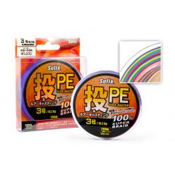 Плетеный шнур SUFIX PE GLIDE MASTER Multicolor 135м 0.13мм