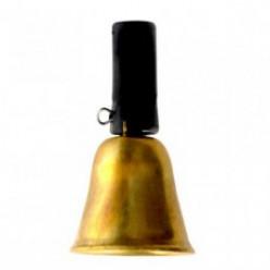 Колокольчик латунный с черной резинкой