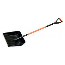 Лопата снег Богатырь 500*375 металл чер в оплетке и планка