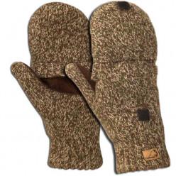 Перчатки -варежки вязанные меланж Green Camo