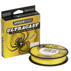 Плетеный шнур SPIDERWIRE UltraCast Yellow 0.25мм 110м