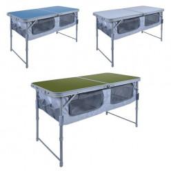 Стол складной ССТ-3П (пластик с полкой) голубой ССТ-3П