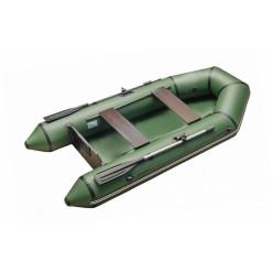 Моторно-гребная лодка с жестким транцем Standart 2800 с привальным брусом зеленый