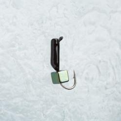 Мормышка вольфрам куб серебро ф2*8