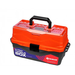 Ящик для снастей Tackle Box трехполочный NISUS красный