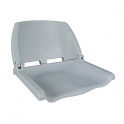 Сиденье пластмассовое складное Folding Plastic Boat Seat серое 75110G