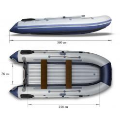 Надувная моторная лодка ФЛАГМАН-360U
