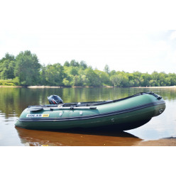 Лодка надувная транцевая Солар Оптима-330 зеленый