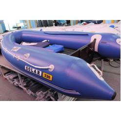 Лодка надувная транцевая Солар Оптима-330 синий