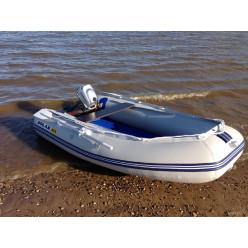 Лодка надувная транцевая Солар Оптима-310 светло-серый