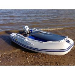 Лодка надувная транцевая Солар Оптима-330 серый